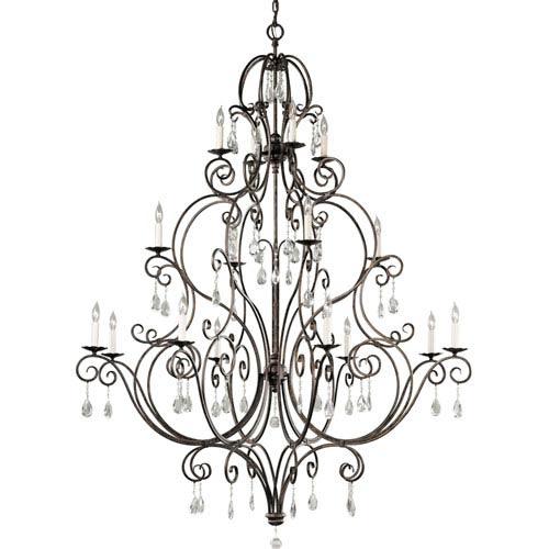 Feiss Chateau Mocha Bronze Sixteen-Light Chandelier