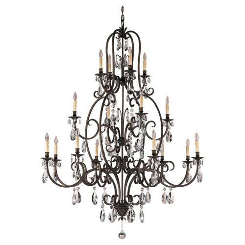 Feiss Salon Ma Mason Aged Tortoise Shell Sixteen-Light Chandelier
