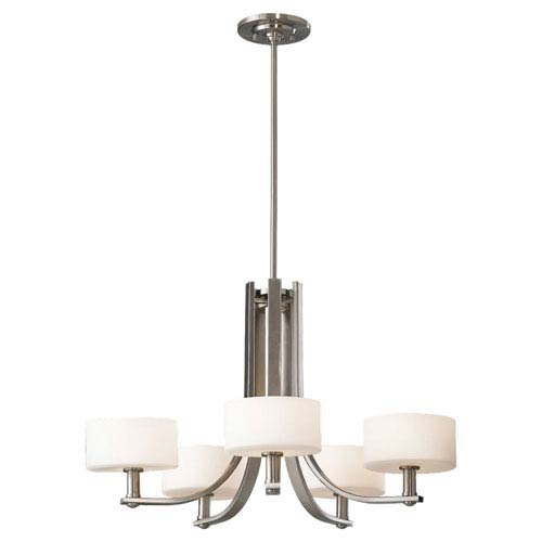 Feiss Sunset Drive Brushed Steel Five-Light Chandelier