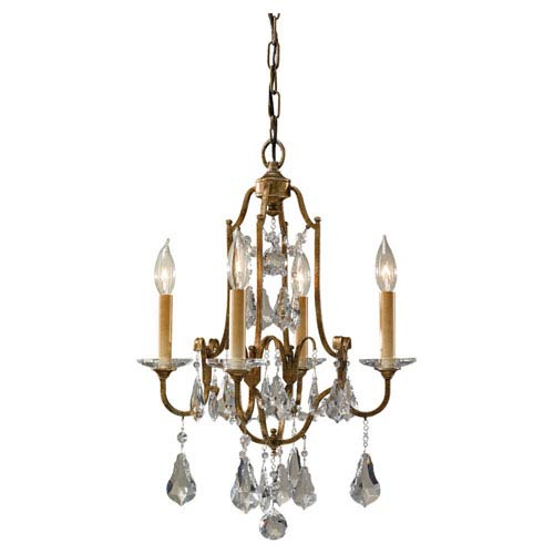 Feiss Valentina Oxidized Bronze Four-Light Chandelier