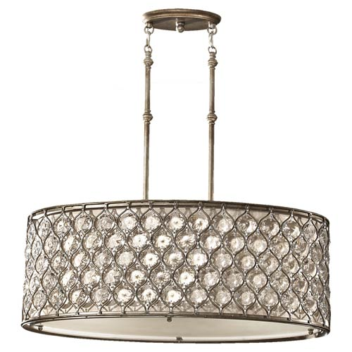Drum oval pendant lighting bellacor feiss lucia burnished silver crystal three light oval drum pendant aloadofball Images