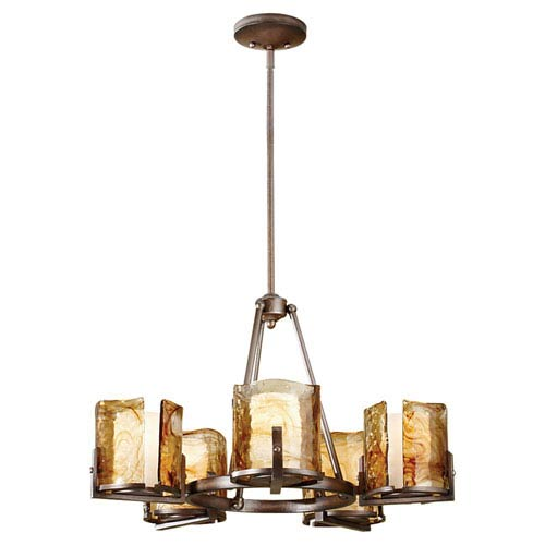 Aris Roman Bronze Five-Light Chandelier