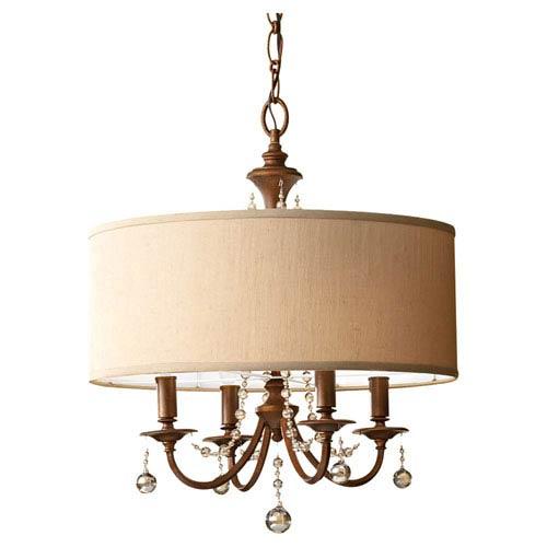 Feiss Clarissa Firenze Gold Four-Light Pendant