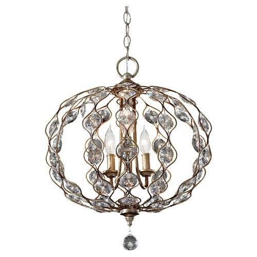 Leila Burnished Silver Three-Light Pendant