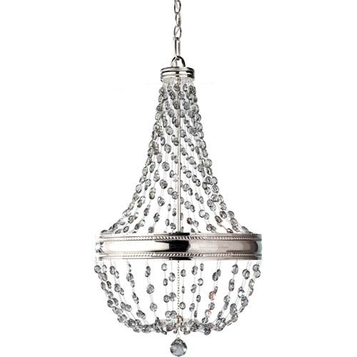Feiss Malia Polished Nickel Crystal Six Light Chandelier