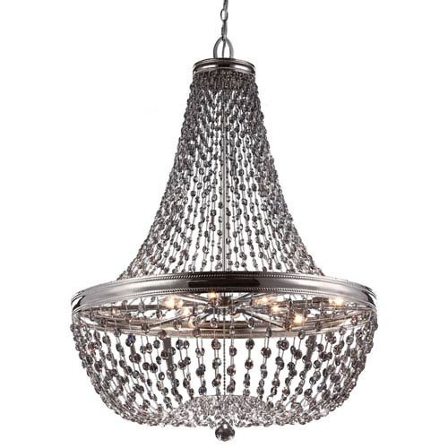 Malia Polished Nickel Nine-Light Chandelier