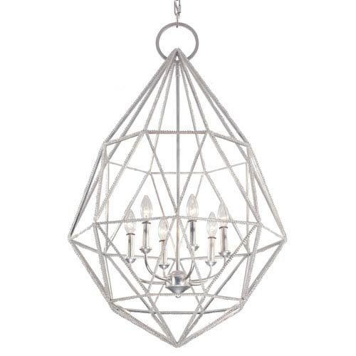 Feiss Marquise Silver Six-Light Chandelier