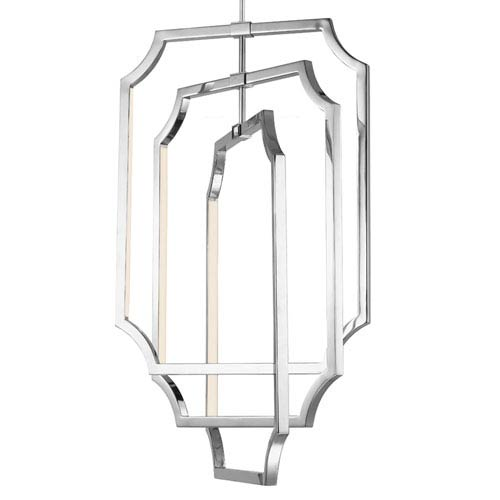 Audrie Polished Nickel Six-Light 17-Inch Wide LED Chandelier