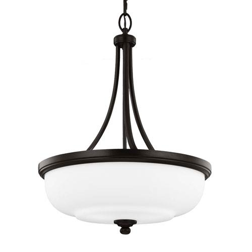Vintner Heritage Bronze Three-Light 20-Inch Wide Pendant