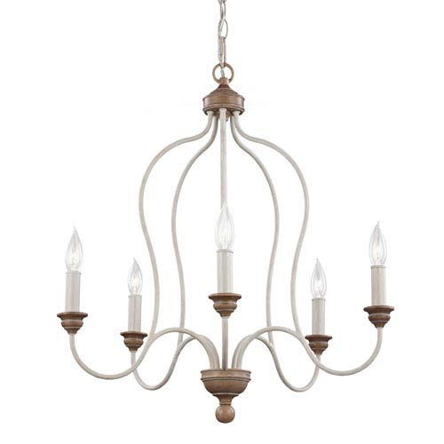 Hartsville Chalk Washed Five-Light Chandelier