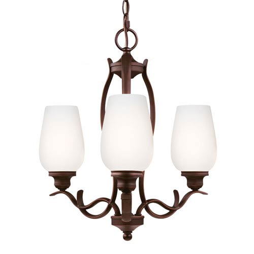 Standish Oil Rubbed Bronze with Highlights Three-Light Chandelier