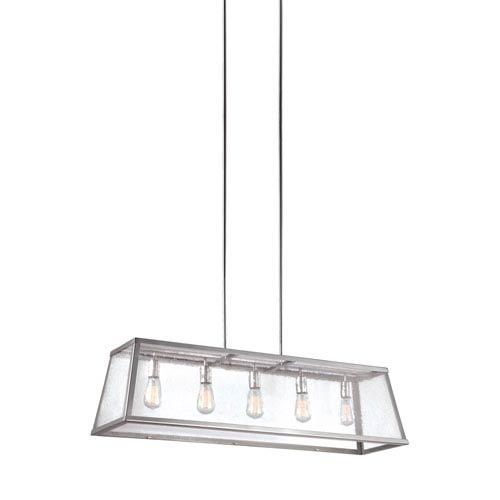 Feiss Harrow Polished Nickel Five-Light Pendant