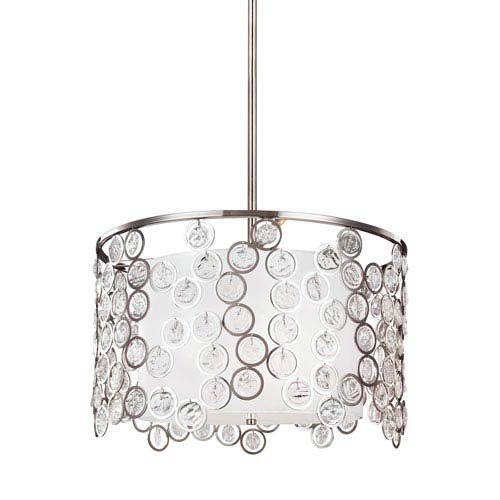 Lexi Polished Nickel Three-Light Pendant