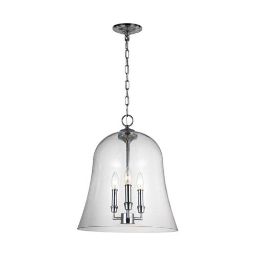 Lawler Chrome 15-Inch Three-Light Pendant