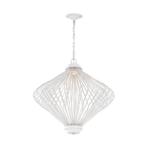 Kellen Plaster White LED Pendant