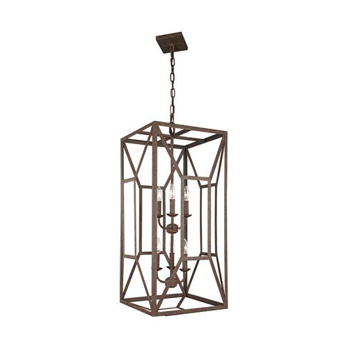 Feiss Marquelle Weathered Iron 17-Inch Six-Light Chandelier