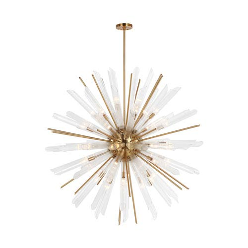 Feiss Quorra Burnished Brass Forty-One Light Chandelier