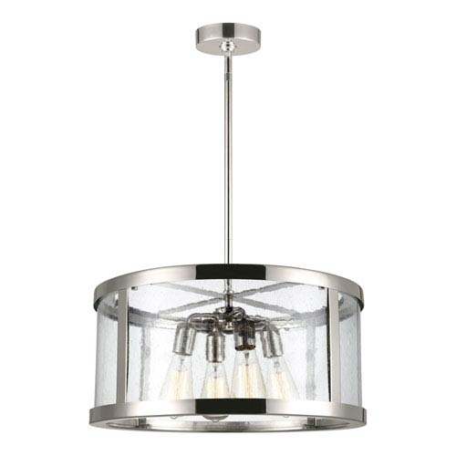 Feiss Harrow Polished Nickel 20-Inch Four-Light Pendant