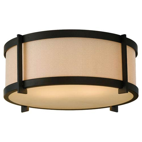 Feiss Stelle Oil Rubbed Bronze Two-Light Flush Mount