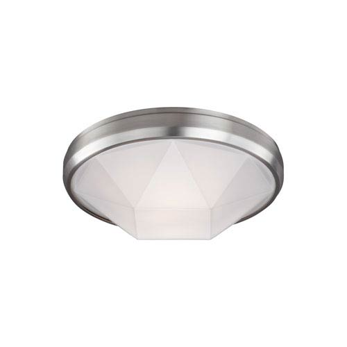 Feiss Gillis Satin Nickel Two-Light Flush Mount