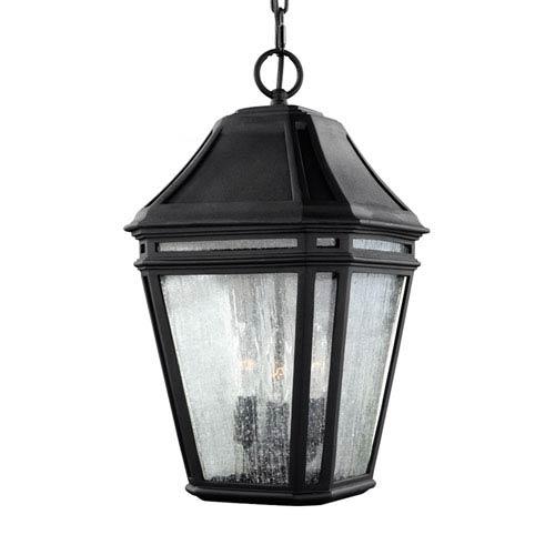 Londontowne Black Three-Light Outdoor Pendant