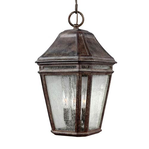 Londontowne Weathered Chestnut One-Light 10-Inch Wide Integrated LED Outdoor Pendant