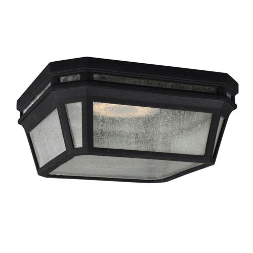 Londontowne Black Two-Light Outdoor Flushmount