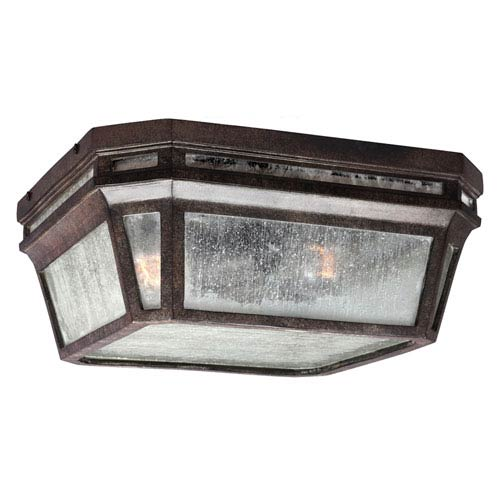 Londontowne Weathered Chestnut One-Light Integrated LED Outdoor Flushmount
