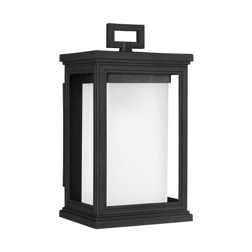 Roscoe 12-Inch Textured Black One-Light Outdoor Wall Sconce
