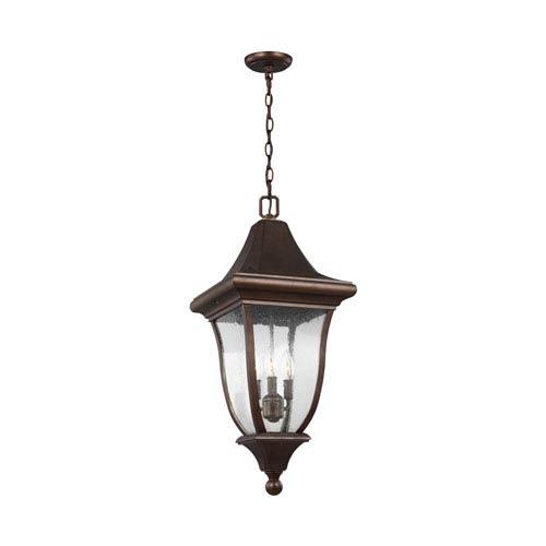 Oakmont Patina Bronze Three-Light Outdoor Pendant Lantern