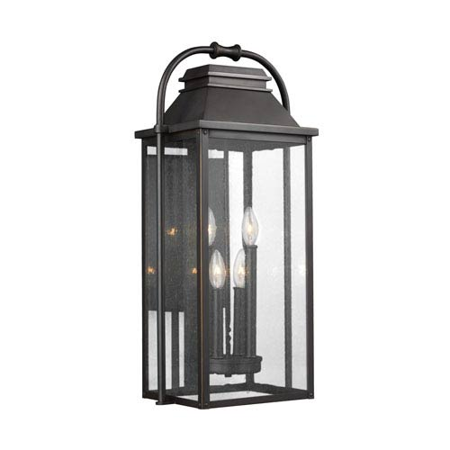Wellsworth Antique Bronze Four-Light Outdoor Wall Lantern