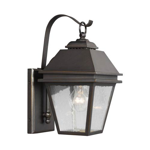 Feiss Herald Antique Bronze One-Light Outdoor Wall Lantern