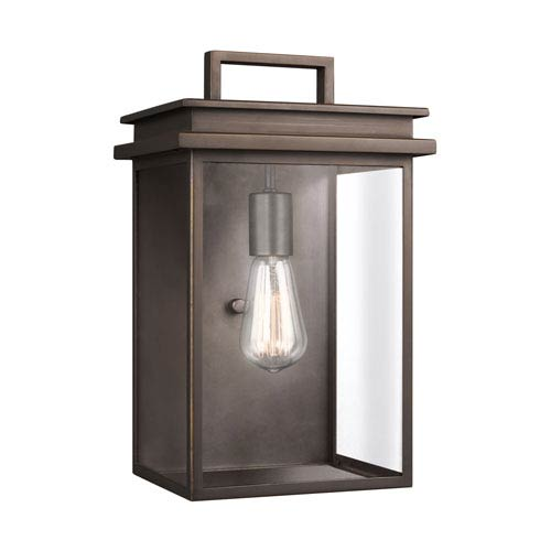 Feiss Glenview Antique Bronze 9-Inch One-Light Outdoor Wall Lantern