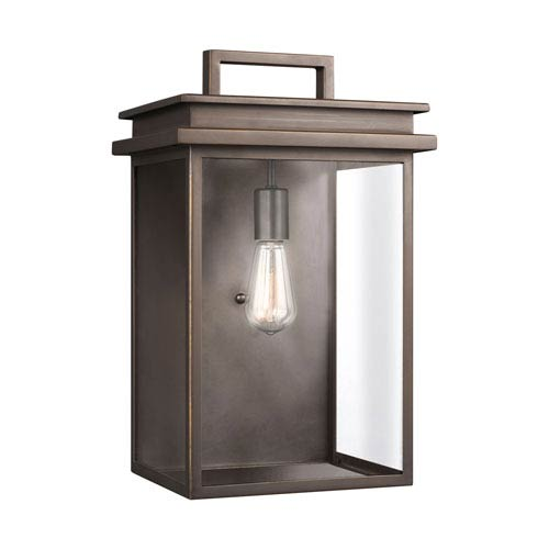 Feiss Glenview Antique Bronze 11-Inch One-Light Outdoor Wall Lantern