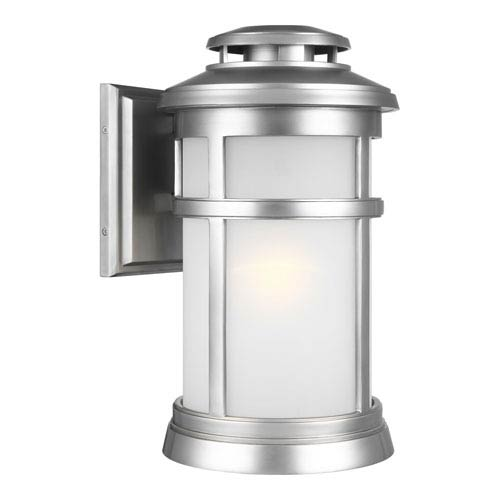 Newport Painted Brushed Steel 9-Inch One-Light Outdoor Wall Lantern