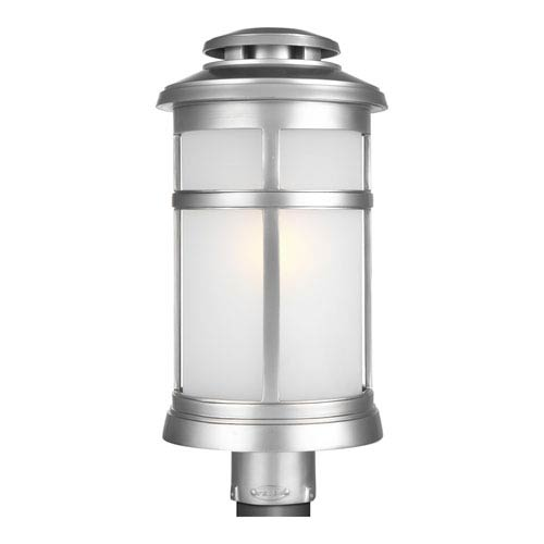 Newport Painted Brushed Steel 9-Inch One-Light Outdoor Post Lantern