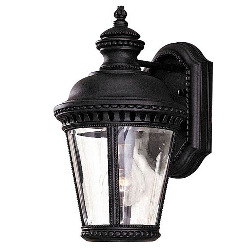 Feiss Castle Black Outdoor One-Light Wall Mount