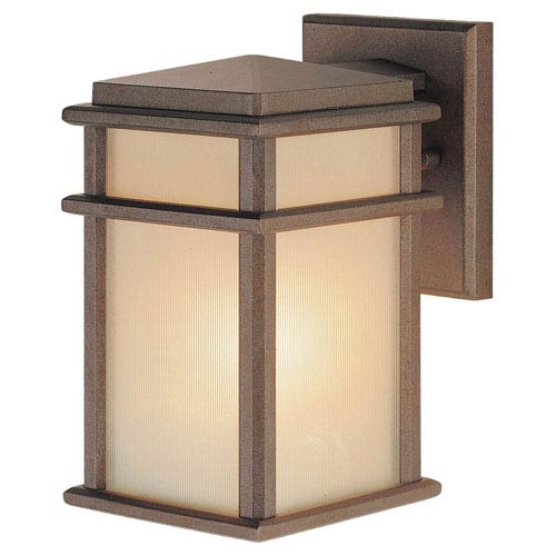 Mission Lodge Small Bronze Outdoor Wall Mount
