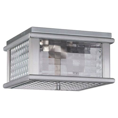 Feiss Monterrey Coast Brushed Aluminum Outdoor Flush Mount