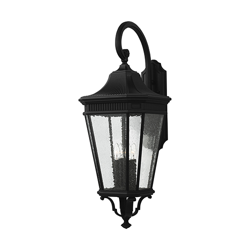 Feiss Cotswold Lane Black 36-Inch Four-Light Wall Lantern