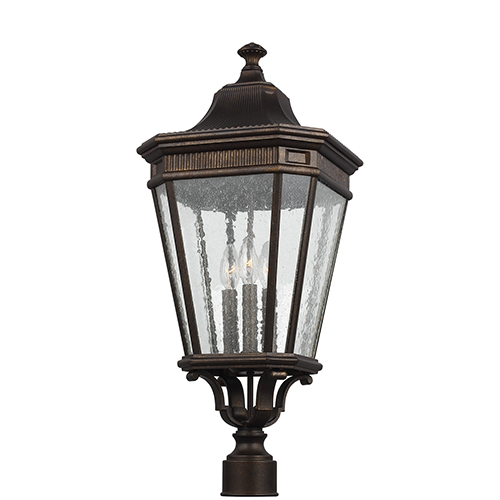 Cotswold Lane Grecian Bronze 12-Inch Three-Light Pier Lantern