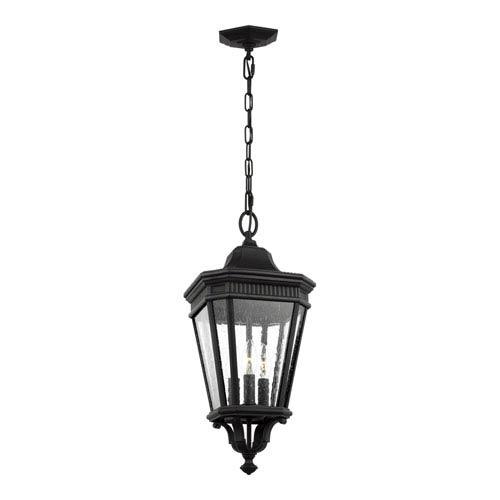 Feiss Cotswold Lane Black 10 Inch Three Light Outdoor Hanging Lantern