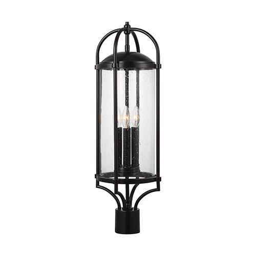 Feiss Dakota Espresso Three-Light Pier Lantern