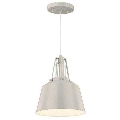 Feiss Freemont Hi Gloss Grey One-Light Mini Pendant
