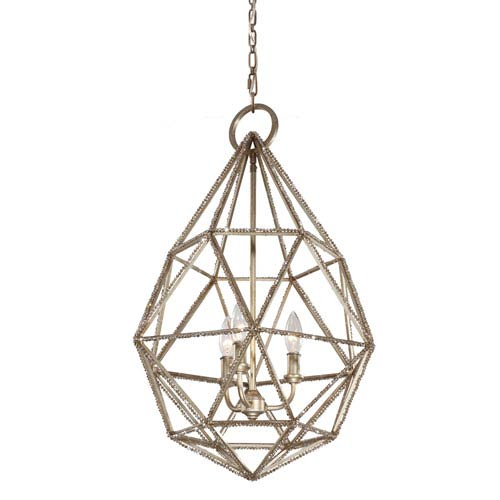 Feiss Marquise Burnished Silver Three-Light Pendant