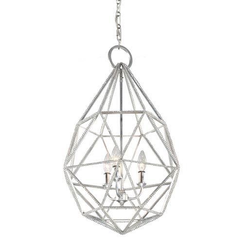 Marquise Silver Three-Light Pendant