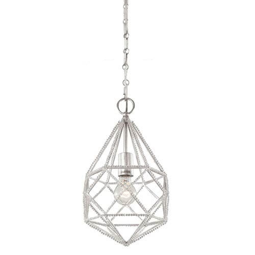 Feiss Marquise Silver One-Light Mini Pendant