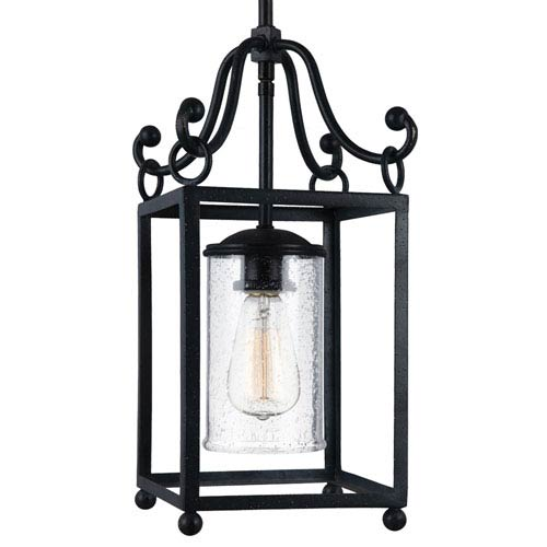 Declaration Antique Forged Iron One-Light Mini Pendant
