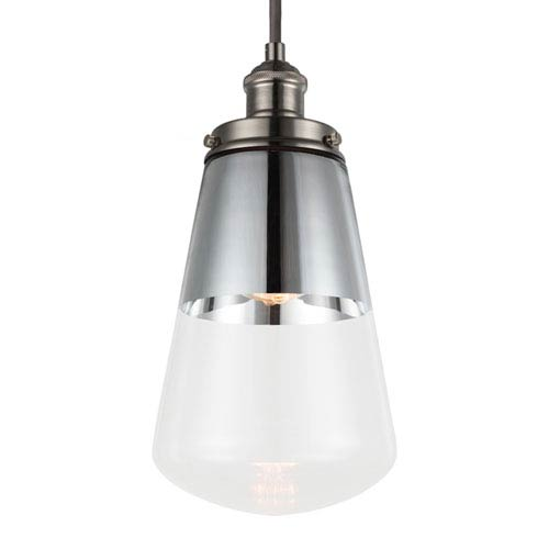 Waveform Polished Nickel One-Light 7-Inch Wide Mini Pendant