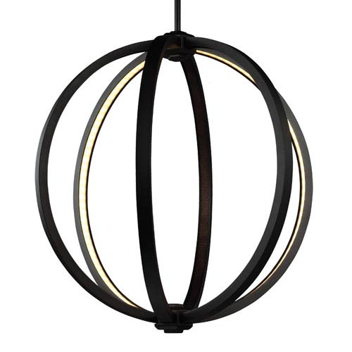 Khloe Oil Rubbed Bronze Three-Light 20-Inch Wide LED Pendant